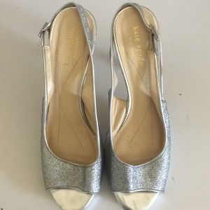 KATE SPADE women's sparkly, strapped heels size 8